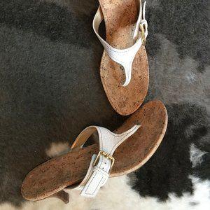 Stuart Weitzman thong sandals, size 10